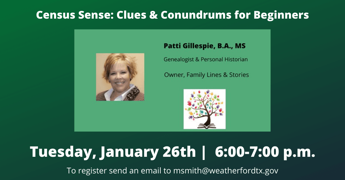 Census Sense: Clues and Conundrums for Beginners Event Carousel Image - Click for more information.
