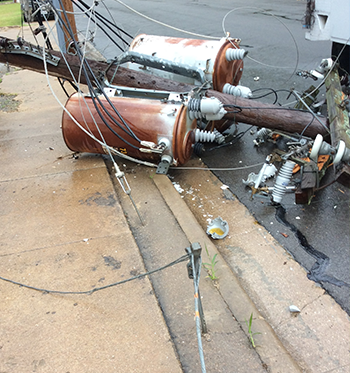 MyWeatherford - Service Request - downed transformer