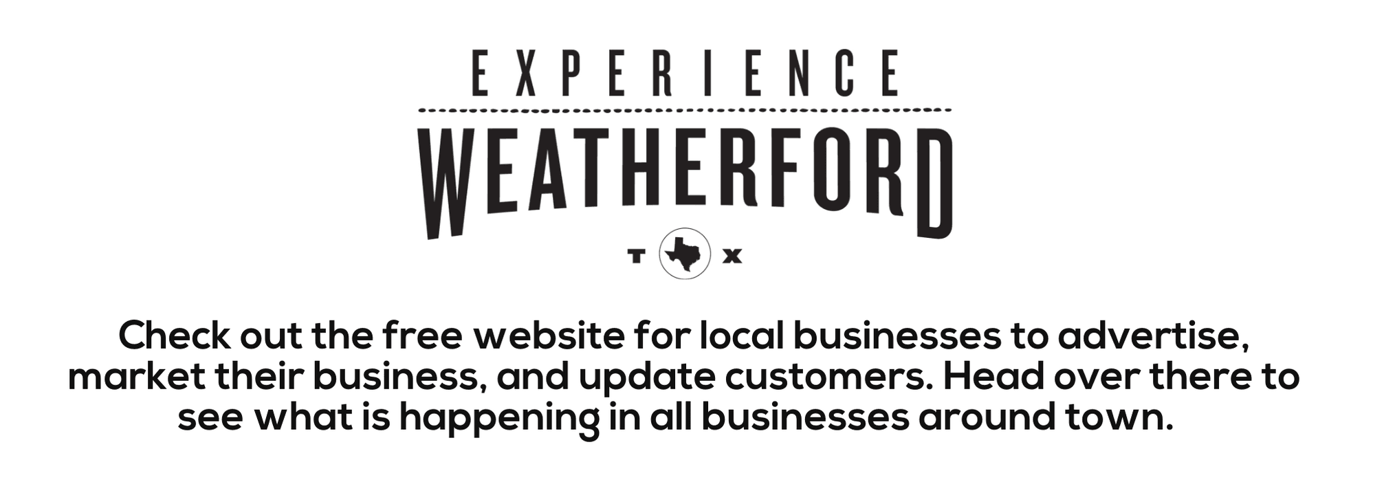 Experience Weatherford Banner - black and white  Opens in new window